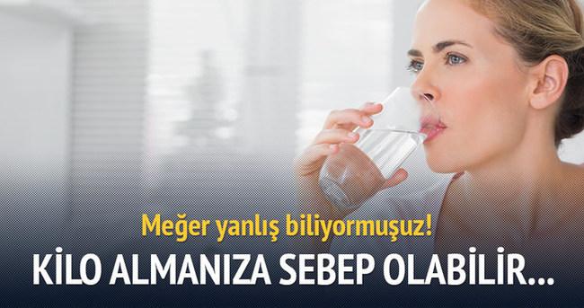 Yemekten önce su içmek şişmanlatıyor