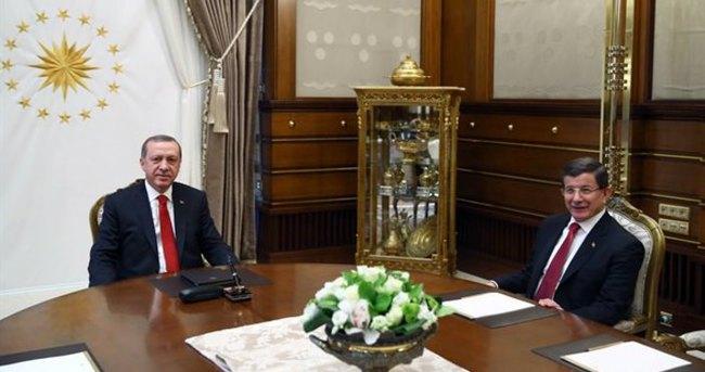 Cumhurbaşkanı Erdoğan, Davutoğlu'nu kabul etti