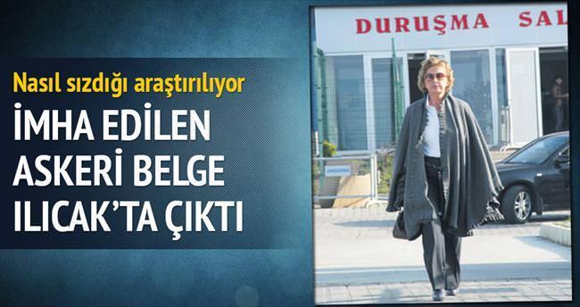 İmha edilen askeri belge Ilıcak'ta çıktı
