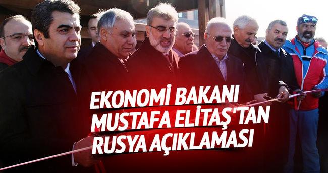 Ekonomi Bakanı Mustafa Elitaş'tan Rusya açıklaması