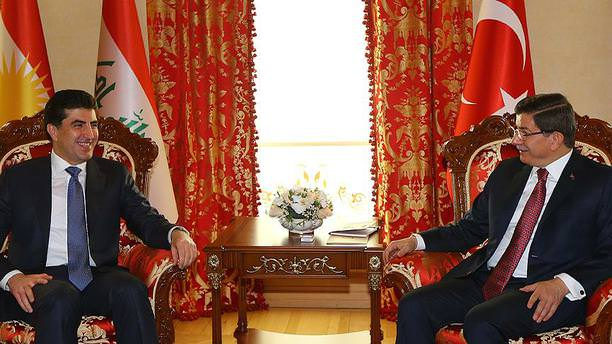 Başbakan Davutoğlu, Barzani'yi kabul etti