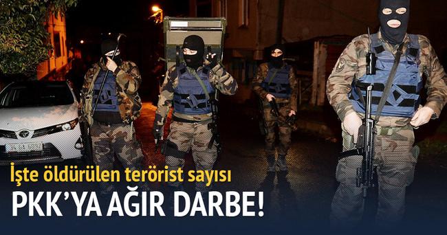 4 ilde 221 terörist öldürüldü