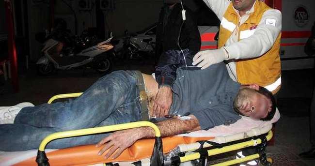 Polise ateş eden genç karnından vuruldu