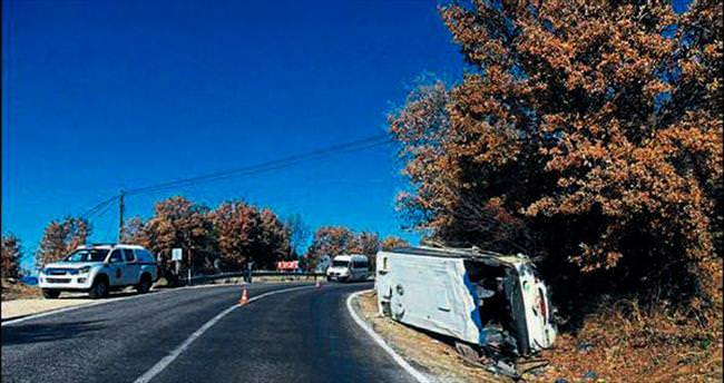 Otobüsün freni boşaldı: 26 yaralı