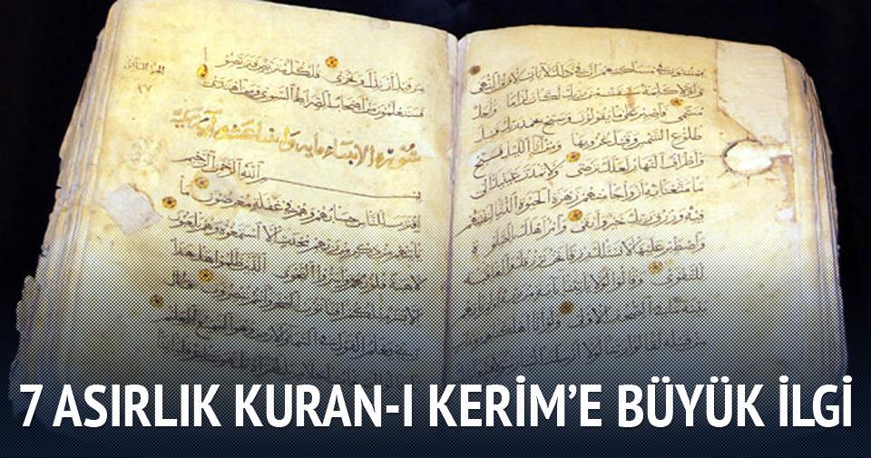7 asırlık Kuran-ı Kerim'e büyük ilgi