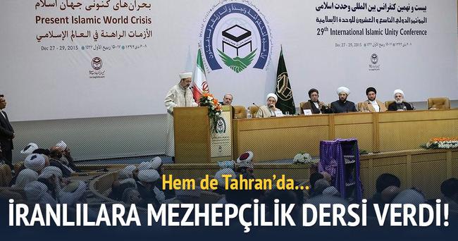 Görmez'den İran'da İslam dünyasına kritik çağrı