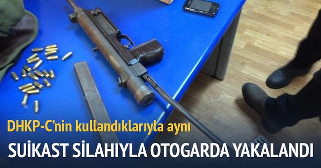 Suikast silahıyla otogarda yakalandı