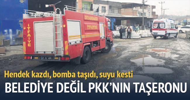 Hendek kazdı, bomba taşıdı, suyu kesti