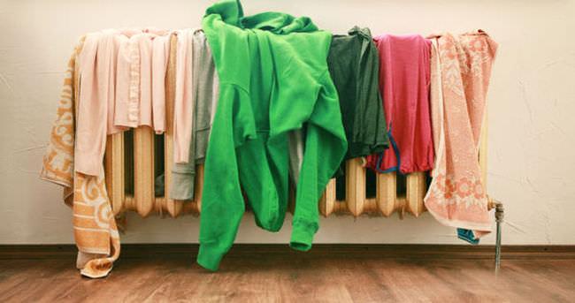 Çamaşırları evin içinde kurutmayın