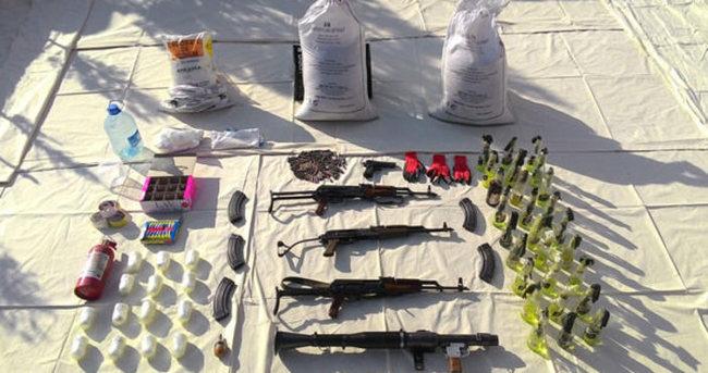 Diyarbakır'da PKK'nın silah ve patlayıcıları ele geçirildi