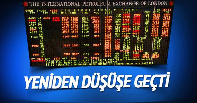 Brent petrol yeniden düşüşe geçti