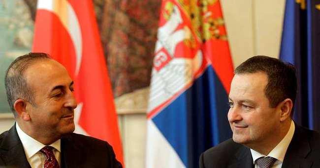 Çavuşoğlu, Dacic'le görüştü