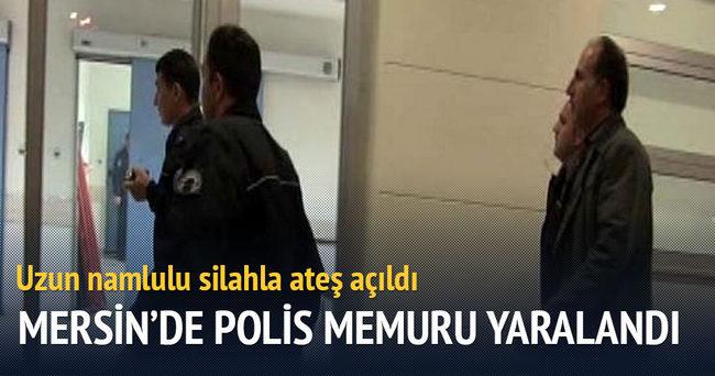 Mersin'de 1 polis memuru yaralandı
