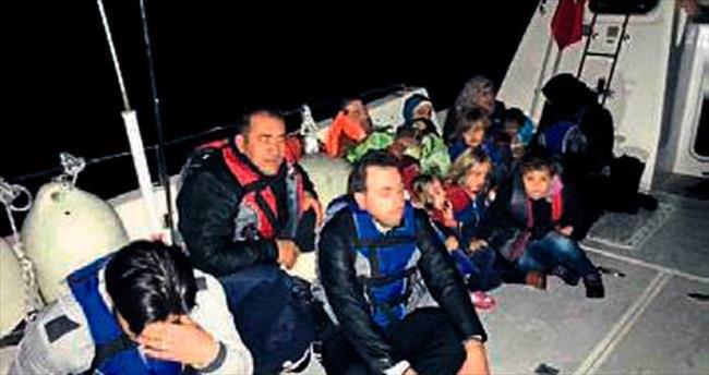 34 kaçak göçmen Kaş'ta yakalandı