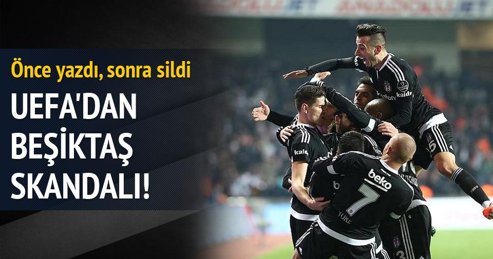 UEFA'dan büyük Beşiktaş skandalı!