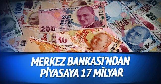 TCMB, repo ihalesiyle piyasaya 17 milyar lira verdi