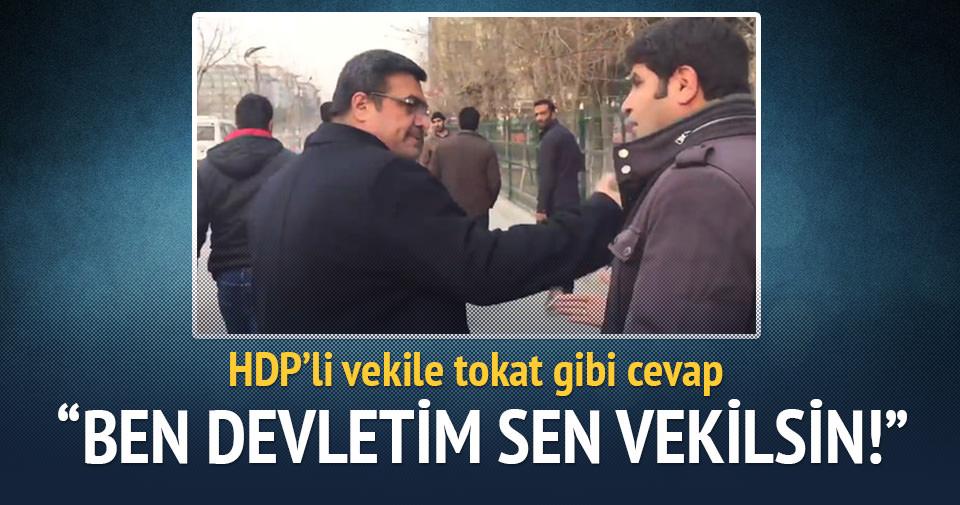 Emniyet Müdürü'nden HDP'li vekile tokat gibi cevap