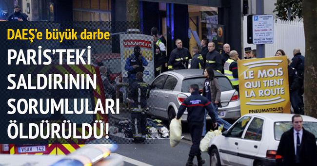 Paris'teki saldırının sorumluları öldürüldü