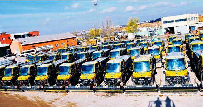 709 araç, 2 bin 500 personel kara kışla mücadeleye hazır