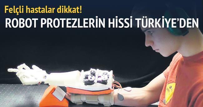 Robot protezlerin hissi Türkiye'den
