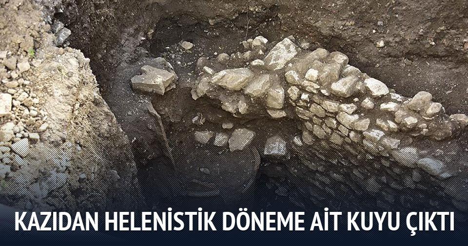 Kazıdan Helenistik döneme ait kuyu çıktı