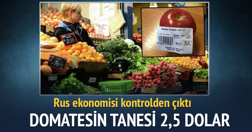 Ruslar domatesin tanesini 6 TL'den yiyor
