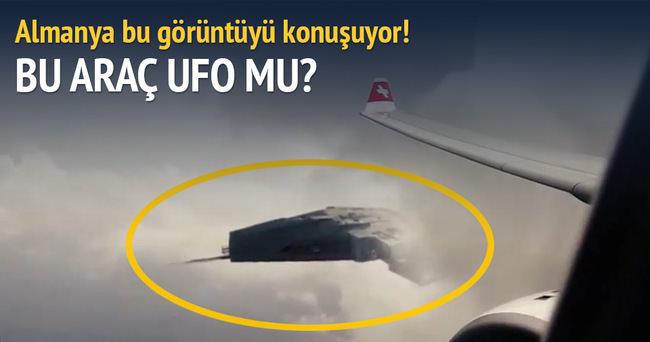 Almanya'da tartışma yaratan görüntüler: Bu araç bir ufo mu değil mi?