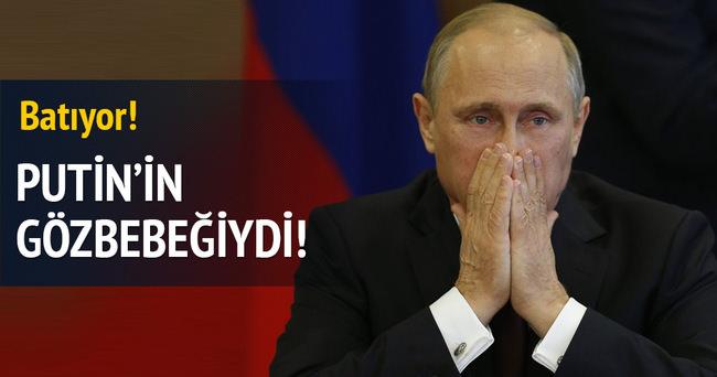 Putin'in gözbebeğiydi! Batıyor...