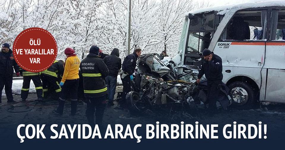 Yoğun kar kazalara neden oldu