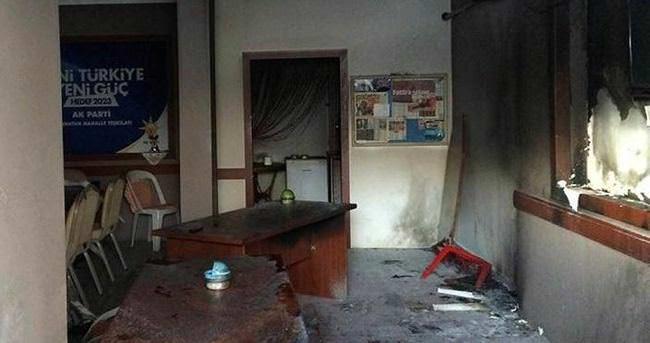 Kocaeli'nde Ak Parti binasına molotoflu saldırı