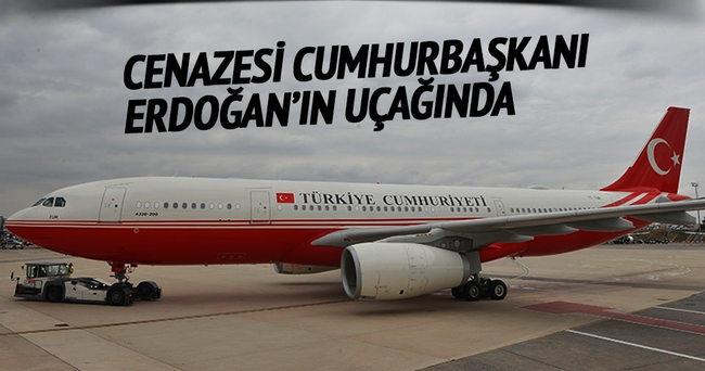Karakaya'nın cenazesi Erdoğan'ın uçağında