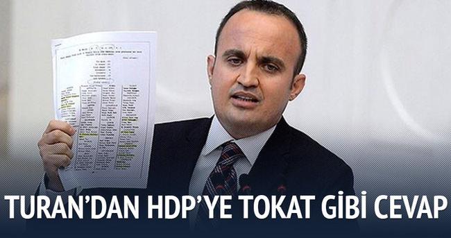 Turan'dan HDP'ye tokat gibi cevap