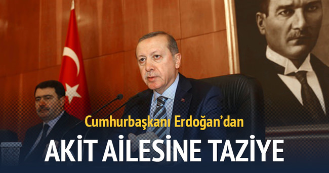 Cumhurbaşkanı Erdoğan'dan Akit ailesine taziye