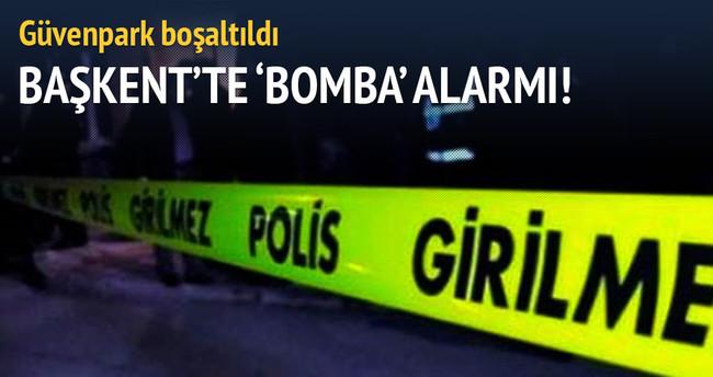 Başkent'te 'bomba' alarmı! Güvenpark boşaltıldı