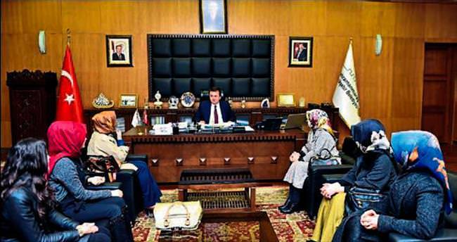 KADEM'den Başkan F. Mehmet Erkoç'a ziyaret