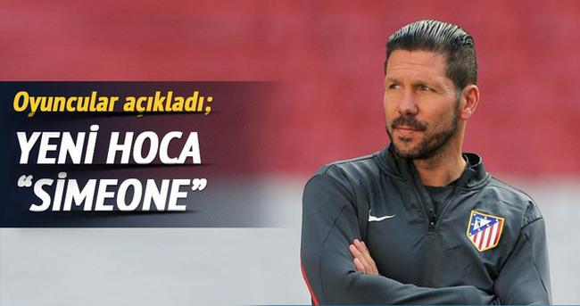 Futbolculara göre yeni hoca 'Simeone'
