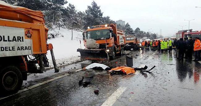 TEM'de trafik kazası: 3 ölü