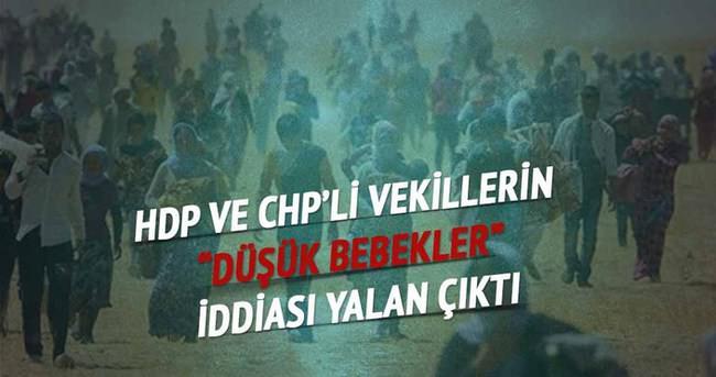 """HDP ve CHP'li vekillerin """"düşük bebekler"""" iddiası yalan çıktı"""