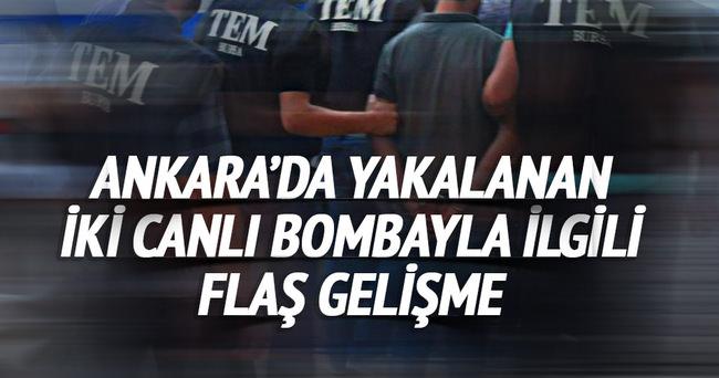 Ankara'da yakalanan iki canlı bomba tutuklandı