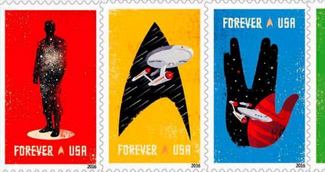 Star Trek'ten 50'nci yıl pulları