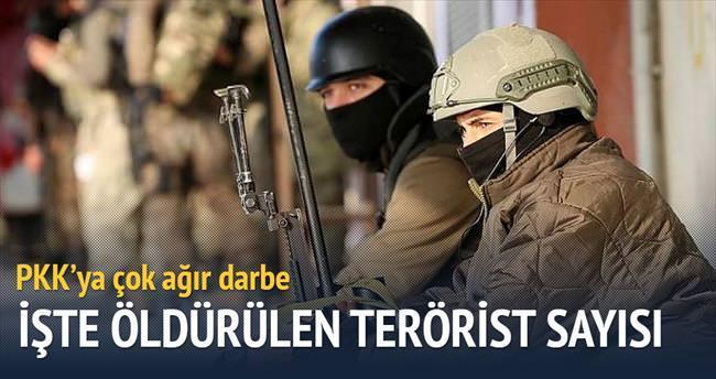 261 terörist öldürüldü
