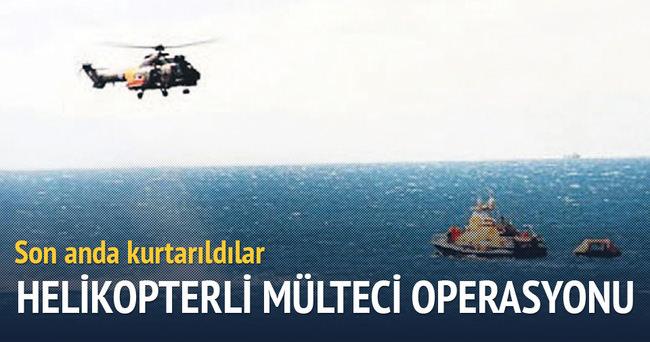 Helikopterle, mülteci kurtarma operasyonu