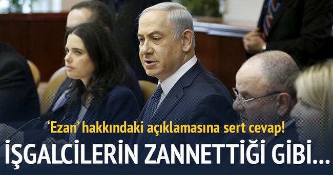 Filistinlilerden Netanyahu'ya ezan tepkisi