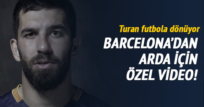 Barcelona'dan Arda ve Vidal'e özel video