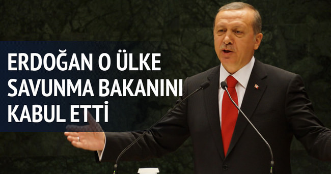 Erdoğan Drian'ı kabul etti