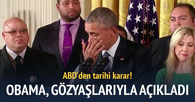 Obama tarihi kararı gözyaşlarıyla açıkladı
