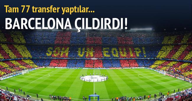 Barcelona çıldırdı... 77 transfer birden