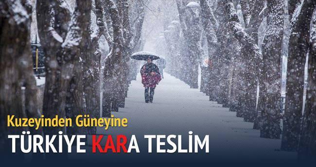 Türkiye'nin en sıcak illeri bile kara teslim