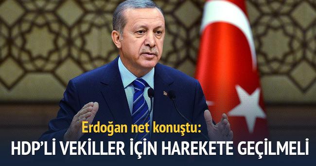 Erdoğan: HDP'li vekiller için harekete geçilmeli