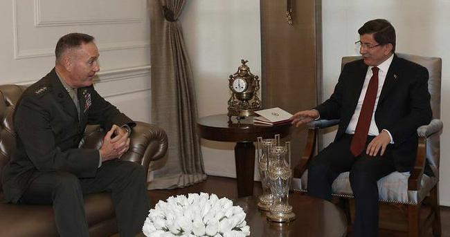 Başbakan Davutoğlu, ABD Genelkurmay Başkanı'nı kabul etti